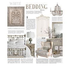 """White Bedding"" by thewondersoffashion ❤ liked on Polyvore featuring interior, interiors, interior design, home, home decor, interior decorating, Home Decorators Collection, iCanvas, Uttermost and Pine Cone Hill"