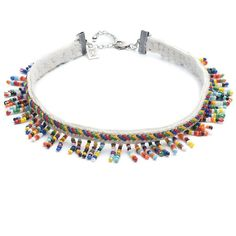 DANNIJO Willa Beaded Choker ($156) ❤ liked on Polyvore featuring jewelry, necklaces, multicolor bead necklace, beaded choker, colorful necklaces, beaded choker necklace and multi color necklace