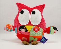 #kokeshi #japan #gustav #owl #watermelon #minky #handmade #littlesophie #japanese