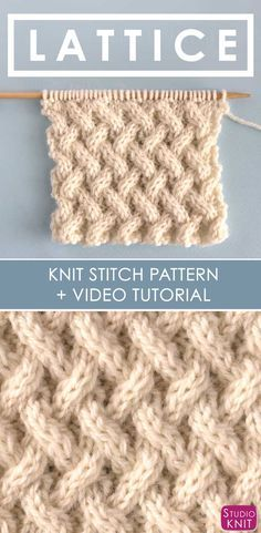 5db43b9694a How to Knit the Lattice Cable Stitch Pattern with free knitting pattern and  video tutorial by