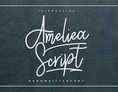"Check out new work on my @Behance portfolio: ""Ameliea Script"" http://be.net/gallery/50074493/Ameliea-Script"