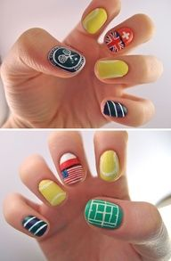 10 Blank Canvases: Wimbledon/Tennis nails