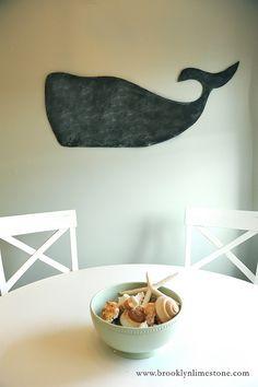 Brooklyn Limestone: DIY: A Whale of a Chalkboard
