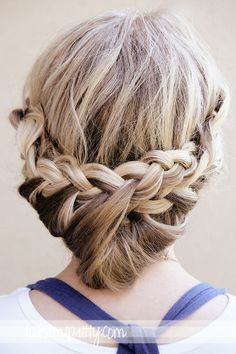 Twist Me Pretty: Princess Braids Tutorial.   I did something like this for Kim's hair. It was easy and perfect for keeping her hair out of her face!