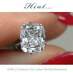 Hint to my honey... CyberMonday Cushion cut diamonds by HadarDiamonds.com . 2.05 carat Cushion Cut Diamond.  Top-tier F color, SI1 clarity, rectangular pillow shape. Actual video available.  Ideal for a diamond engagement ring.