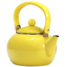 Calypso Basics by Reston Lloyd Enamel-on-Steel Tea Kettle, Lemon Yellow