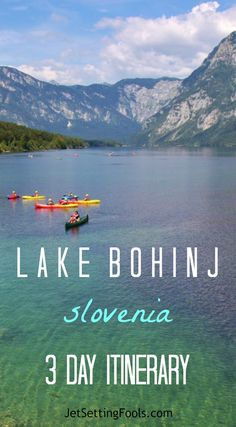 Lake Bohinj, Slovenia Itinerary Lake Bohinj, Slovenia 3 Day Itinerary: Lake Bohinj is a postcard-picture scene, naturally designed in in hues of unbelievable blues and shades of intense green. Cradled in the Julian Alps, the glacial lake is watched o Travel Around Europe, Europe Travel Guide, Europe Destinations, Travel Around The World, Travel Guides, Les Balkans, Slovenia Travel, Visit Slovenia, Bohinj