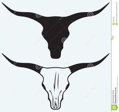 Skull of a bull stock vector. Bull Skull Tattoos, Bull Skulls, Cow Skull, Skull Silhouette, Silhouette Painting, Tattoo Crane, Skull Template, Marilyn Monroe Tattoo, Bucking Bulls