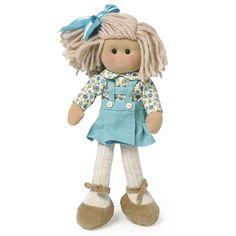 Muñeca de trapo Marta flor turquesa la nina