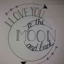 Love to the moon and back . ❤❤ I love you to the moon and back . - Love to the moon and back … ❤❤ I love you to the moon and back … – DIY tattoo – # - Diy Tattoo, Tattoo Care, Tattoo Kits, Tattoo Ideas, Tattoo Designs, Cute Drawings Of Love, Drawings For Him, Easy Drawings, Geometric Tatto
