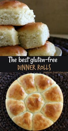 Gluten-free Pull-Apart Dinner Rolls Gluten-free Dinner Rolls that taste like grandma's holiday rolls! We enjoy these gluten-free rolls at the holidays and year-round! - We think these are the best gluten-free dinner rolls! Our go-to recipe! Dairy Free Options, Dairy Free Recipes, Best Gluten Free Desserts, Gluten Free Vegetarian Recipes, Gluten Free Appetizers, Wheat Free Recipes, Gf Recipes, Christmas Dinner Recipes Gluten Free, Gluten Free Thanksgiving Dessert