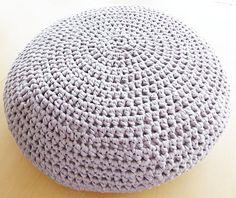 Crochet Pouf Ottoman Floor Cushion PDF door annemariesbreiblog, €4,00