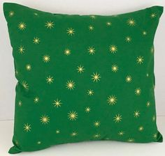 Gold Stars on Green