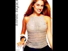 Blusa Ramy, da Revista Figurino Moda Crochê - YouTube Crochet Bra, Crochet Shorts, Crochet Diagram, Crochet Woman, Crochet Blouse, Irish Crochet, Crochet Crafts, Crochet Clothes, Crochet Stitches