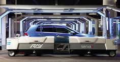 Ray has four wheels that can turn a full 360 degrees, allowing it to manoeuvre into extremely tight space