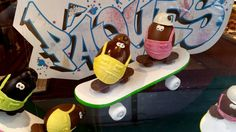 Dalloyau easter skateboarding chocolate eggs