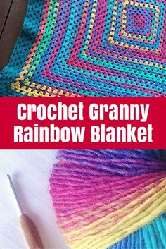 Love a rainbow, especially a crochet rainbow! This Crochet Granny Rainbow Blanket is super lovely but easy enough for a beginner to master.