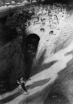 Sidney Sime, the City of Never from the Book of Wonder (Lovecraft)