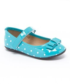 Teal Polka Dot Mary Jane by Ositos Shoes #zulily #zulilyfinds
