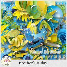 Brother's B-Day by #DesignsByBrigit #thestudio #digitalscrapbooking #birthday