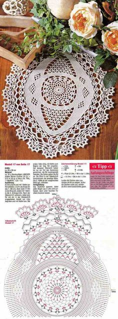 Ideas crochet rug oval table runners for 2019 Crochet Doily Diagram, Crochet Mandala Pattern, Crochet Patterns, Dress Patterns, Crochet Dollies, Crochet Gifts, Crochet Flowers, Thread Crochet, Crochet Yarn