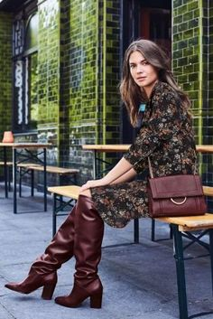 The slouch boots of DREAMS that everyone's talking about! Make them even MORE fitting for autumn/winter by investing in a pair in a beaute berry shade. Whether they're worn with jeans of a boho inspired dress like here, they're guaranteed to look FAB throughout AW17.