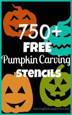 750 + FREE Pumpkin Carving Stencils!! (Disney, Star Wars, Angry Birds, Celebrities and more!)