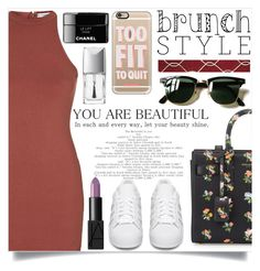"""YOU ARE BEAUTIFUL..."" by creating-outfits ❤ liked on Polyvore featuring Topshop, adidas Originals, Yves Saint Laurent, Casetify, Momeni, Ray-Ban, NARS Cosmetics and Christian Dior"