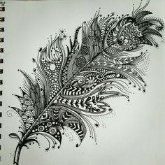 Resultado de imagen para pluma zentangle