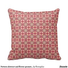 Pattern abstract and flower geometry throw pillows
