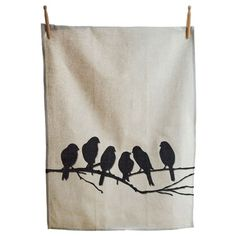 I pinned this Lovebirds Tea Towel from the Family Kitchen event at Joss and Main!