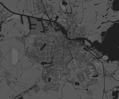 map of Amsterdam, styled with Google Maps style wizard