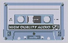 #CrossStitch #Tape #Pattern  But don't forget the songs   That made you cry   And the songs that saved your life