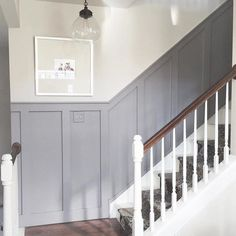 Ideas White Stairs Diy Basement Steps For 2019 Game Room Design, Family Room Design, Interior Barn Doors, Interior And Exterior, Stair Paneling, Paint Paneling, Paint Doors, Wainscoting Stairs, Stair Walls