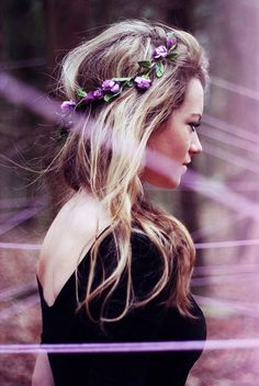 Bold Purple Flowers Headband