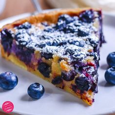 Sweet Desserts, Sweet Recipes, Dessert Recipes, Blueberry Muffin Bread Recipe, Cake Factory, Happy Foods, Vegan Dishes, Food Hacks, Food Videos