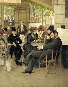 At the Café de la Paix  Paris 1883  Georges Croegaert