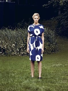 Punaiset ballerinat & Joli dress - Marimekko Fashion - summer 2015