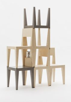 Seating and storage are the things any home needs more of. So Sweden based designers Kyuhyung Cho and Hironori Tsukue obliged and created the Oneness collection, consisting of two chairs and a low table that can be flipped, stacked and turned into a shelving unit.
