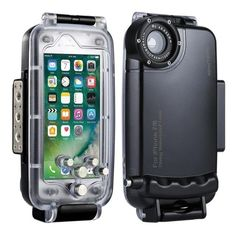 HAWEEL iPhone 7 Plus/ 8 Plus Underwater Housing Professional Diving Case for Diving Surfing Swimming Snorkeling Photo Video with Lanyard (iPhone 7 Plus/ 8 Plus, Black) Iphone 7 Plus, Iphone 8, Iphone Cases Bling, Iphone Cases Cute, Iphone 7 Coque, Iphone Instagram, Phone Charger Holder, Plus 8