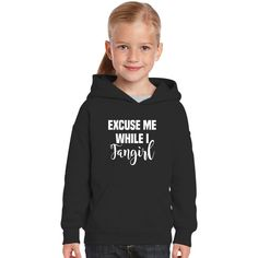 Excuse Me While I Fangirl Kids Hoodie