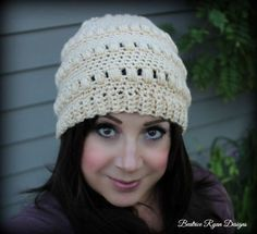 Ladies Whimsical Warmth Beanie ~ Free Crochet Pattern - http://www.beatriceryandesigns.com/2015/09/18/ladies-whimsical-warmth-beanie-free-crochet-pattern/