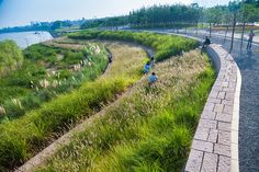 Yanweizhou Park in Jinhua City by Turenscape