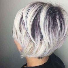 Love the cut. Ash Blonde Hair, Ombre Hair, Platinum Blonde, Hair Dye, Platinum Highlights, Blonde Roots, Blonde Layers, Platinum Pixie, Blonde Ends
