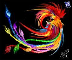 Rainbow Phoenix by ~Tifanie on deviantART