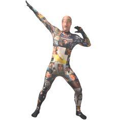 Nicolas Cage Morphsuit - Nicolas Cage Fancy Dress Costume - Morphsuits UK