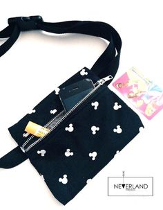 Mickey waist pack zipper pouch by NeverlandThreadss on Etsy