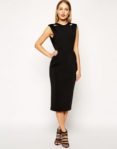 Enlarge ASOS TALL Exclusive Premium Structured Dress