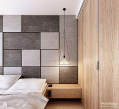 Koralowa | Lublin - Mała sypialnia małżeńska, styl nowoczesny - zdjęcie od H+ Architektura