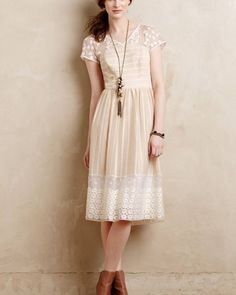 Anthropologie Poema Lace Dress